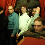 """""""Бостонское чаепитие""""-2008: (слева направо) В.Преображенский, П. Веренчиков, М. Протасов, М. Сюч, И.Дацюк"""
